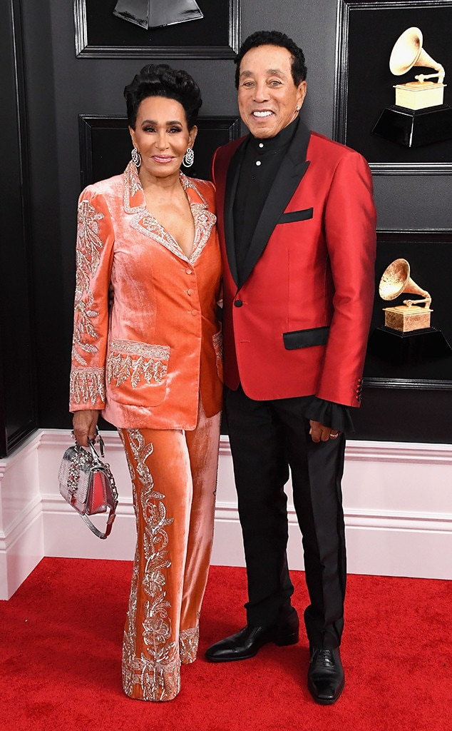 Smokey Robinson & Frances Glandney -  The Motown legend puts his longtime marriage on display at the Grammys.