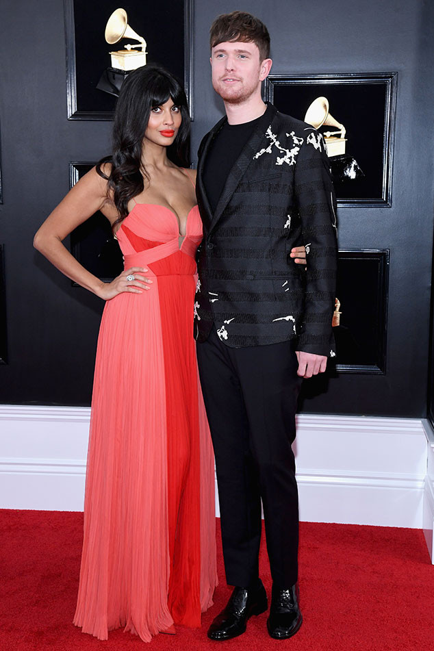 Jameela Jamil, James Blake, 2019 Grammys, 2019 Grammy Awards, Couples