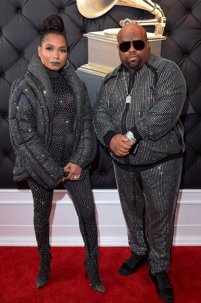"""CeeLo Green & Shani James -  The """"Forget You"""" artist takes a moment with his partner on the red carpet."""