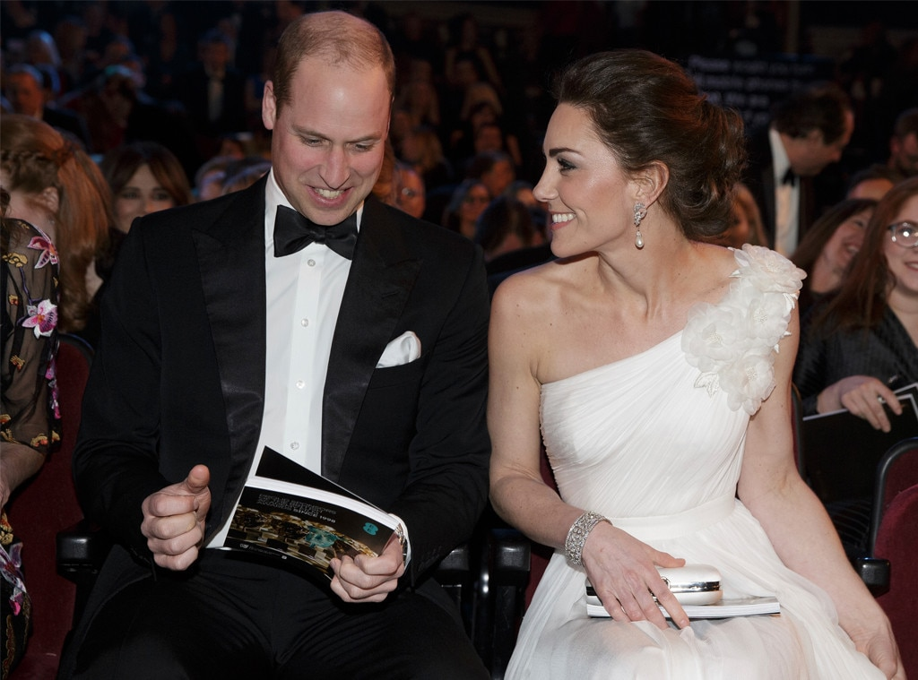 Prince William & Kate Middleton -  The Duke and Duchess of Cambridge are looking excited at the 2019 BAFTA awards in London, U.K.