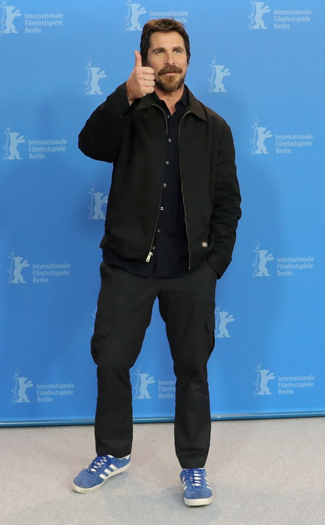 Christian Bale -  All good! The actor gives a sign of approval with a thumbs up during a  Vice  photocall during the Berlinale International Film Festival in Germany.