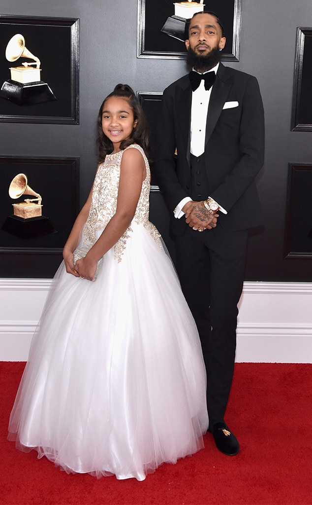 Nipsey Hussle & Emani Asghedom -  The Best Rap Album nominee attended the star-studded ceremony with his daughter.