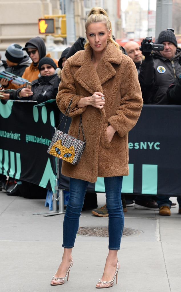 Nicky Hilton Rothschild -  Me-ow! The fashionista poses for pics in the Big Apple after debuting her latest Nicky Hilton x Tolani collection at NYFW.