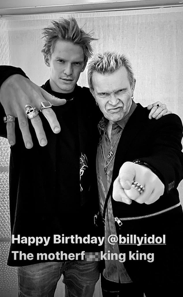 Cody Simpson, Billy Idol, Birthday, Instagram