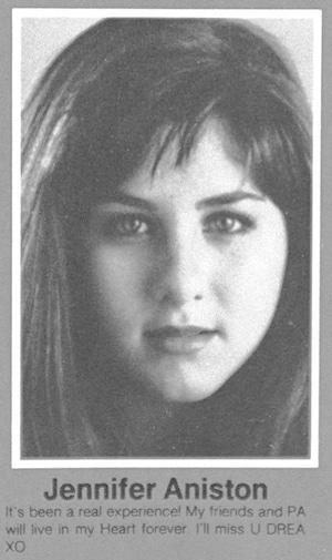 Jennifer Aniston, 1987 Yearbook