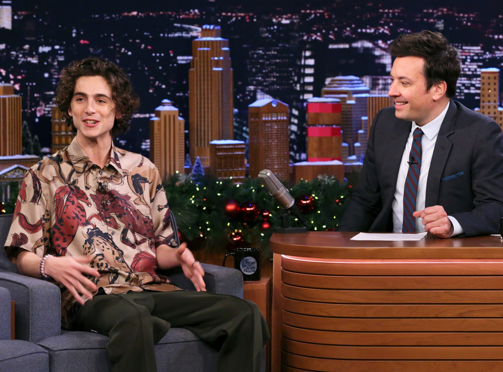 Timothee Chalamet, The Tonight Show Starring Jimmy Fallon 2019