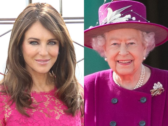 Elizabeth Hurley Claims She and Queen Elizabeth II Have the Same Stalker