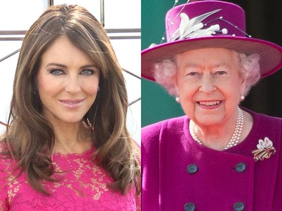 Elizabeth Hurley Claims She and Queen Elizabeth II Have the Same Stalker