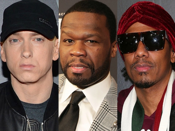 "50 Cent Threatens to Kick Nick Cannon's ""Ass"" Over Eminem Feud"