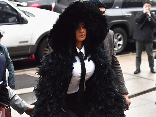 Cardi B Makes a Dramatic Entrance for Her Court Appearance in a Larger-Than-Life Coat