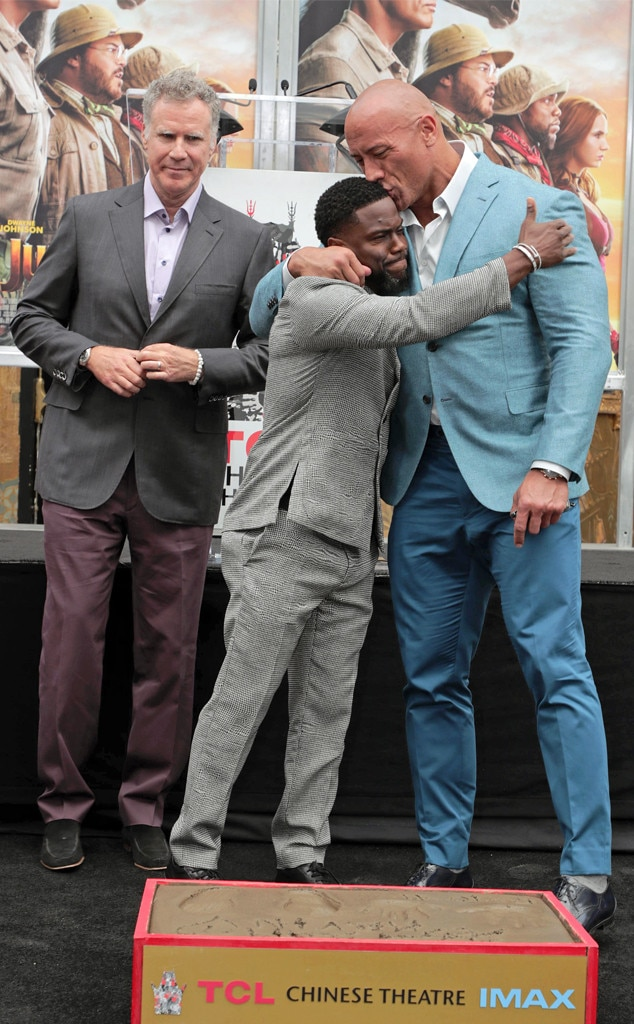 Will Ferrell Kevin Hart And Dwayne Johnson From Candid