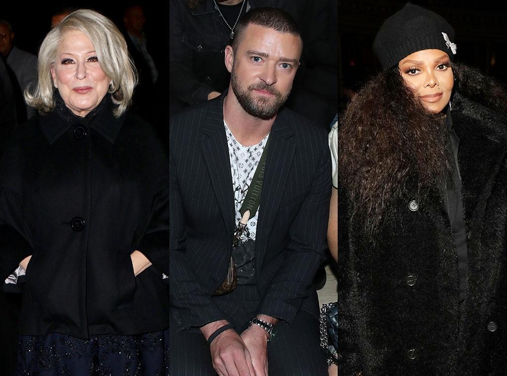 Bette Midler, Justin Timberlake, Janet Jackson