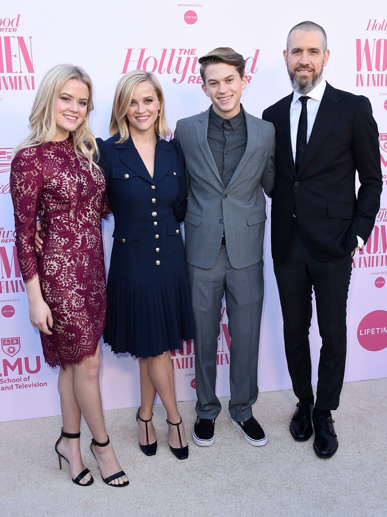 Ava Phillippe, Reese Witherspoon, Deacon Phillippe, Jim Toth, The Hollywood Reporter's Women in Entertainment