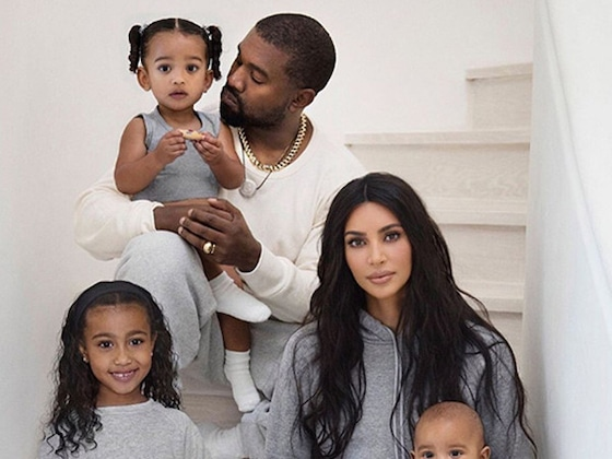 Kim Kardashian and Kanye West's Son Saint Wins the Family Christmas Card