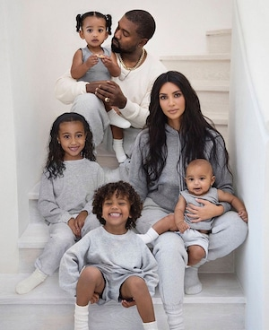 Kim Kardashian, Kanye West, Holiday Cards 2019