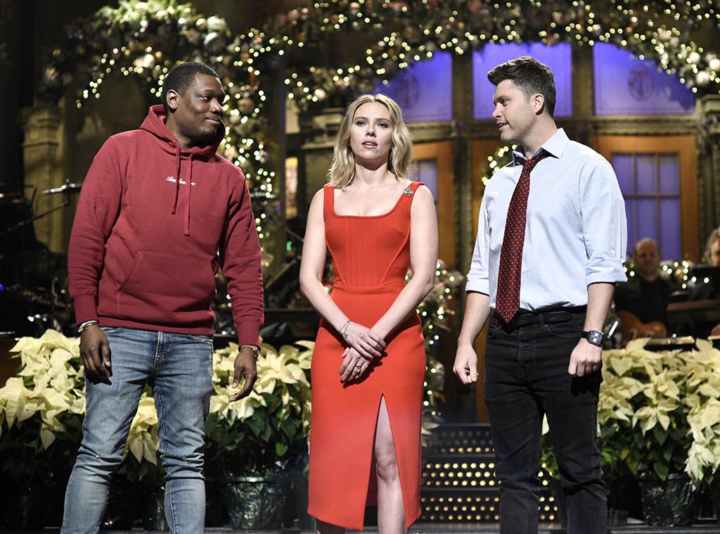 Scarlett Johansson Jokes About Colin Jost Engagement On Snl E Online