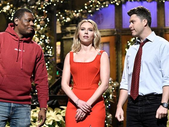 Scarlett Johansson Jokes About Colin Jost Engagement on <i>Saturday Night Live</i>: 5 Best Moments