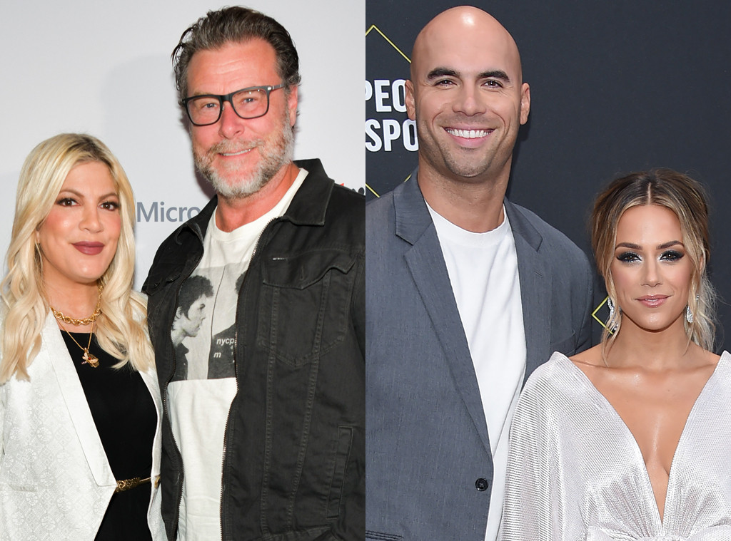 Tori Spelling, Dean McDermott and Jana Kramer, Mike Caussin