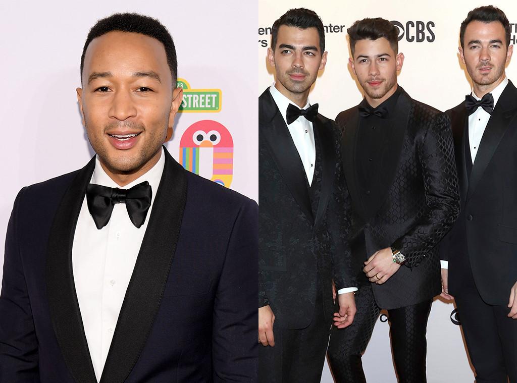 John Legend, Jonas Brothers, Joe Jonas, Nick Jonas, Kevin Jonas
