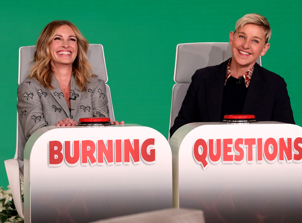 Julia Roberts, Burning Questions, The Ellen DeGeneres Show 2019