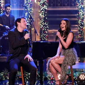 Lea Michele, Jonathan Groff, Tonight Show