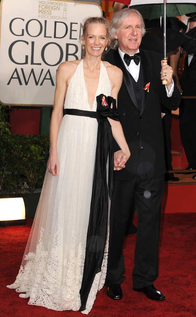 James Cameron, Suzy Amis, 2010 Golden Globes