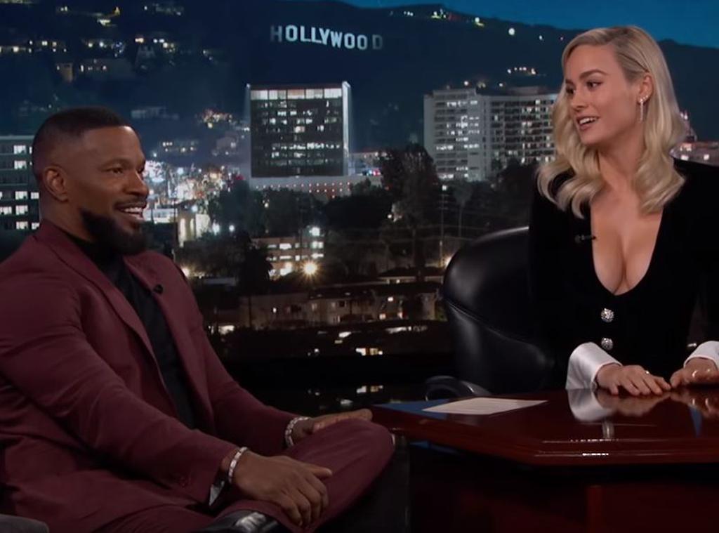 Jamie Foxx, Brie Larson, Jimmy Kimmel Live 2019