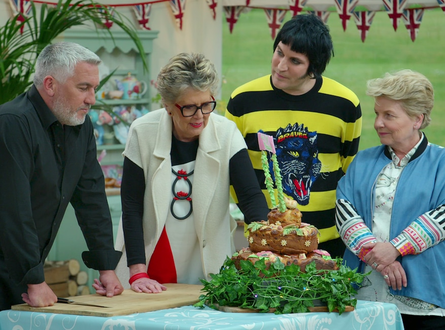 The Great British Baking Show, The Great British Bake Off, Paul Hollywood, Noel Fielding, Sandi Toksvig, Prue Leith