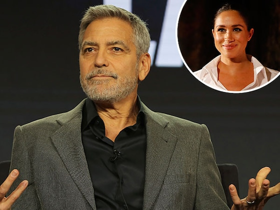 George Clooney défend Meghan Markle et compare sa médiatisation à celle de Lady Di