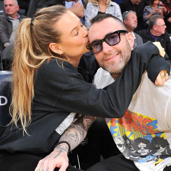 Adam Levine and Behati Prinsloo Win Cutest Couple During NBA Date Night