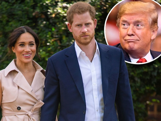 Donald Trump Says U.S. Won't Pay for Meghan Markle and Prince Harry's Security