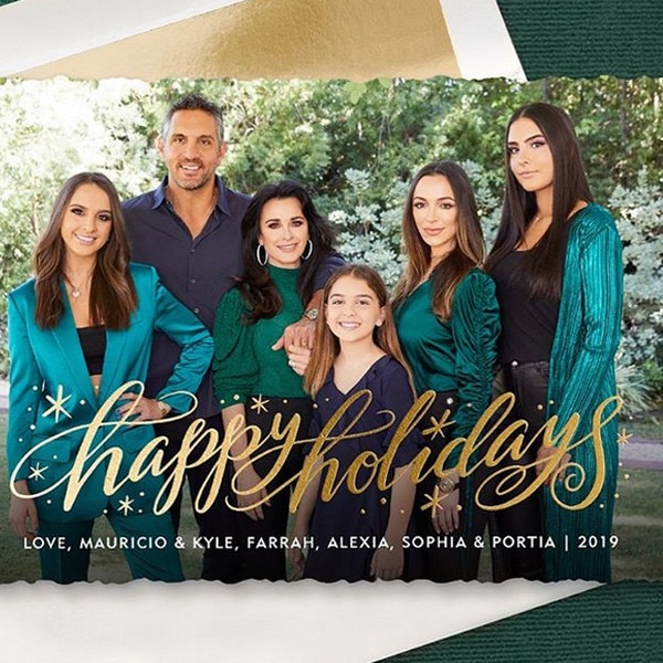 Kyle Richards, Holiday Cards 2019