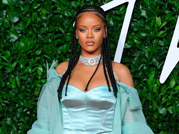 Rihanna Makes a Grand Entrance at Roc Nation's Annual Brunch in a Glitzy Gold Dress