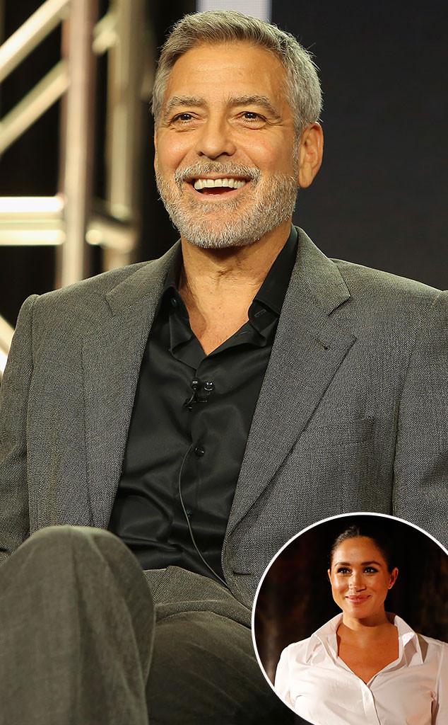 George Clooney, Meghan Markle, Inset