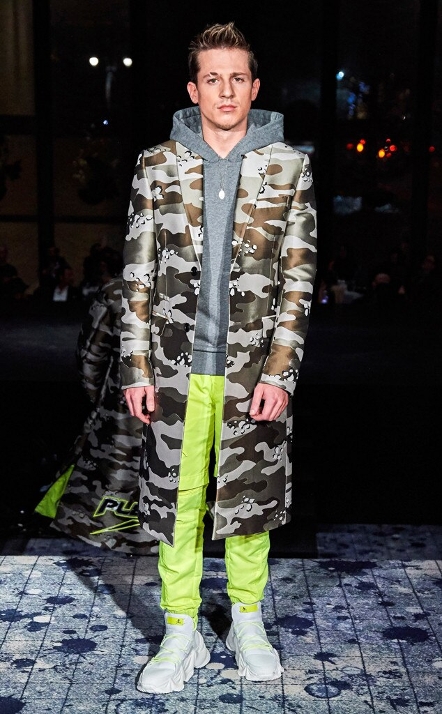 Charlie Puth -  Walked the runway at the Philipp Plein show on Feb. 11, 2019.