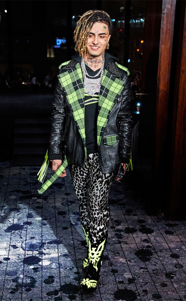 Lil Pump -  Walked the runway at the Philipp Plein show on Feb. 11, 2019.