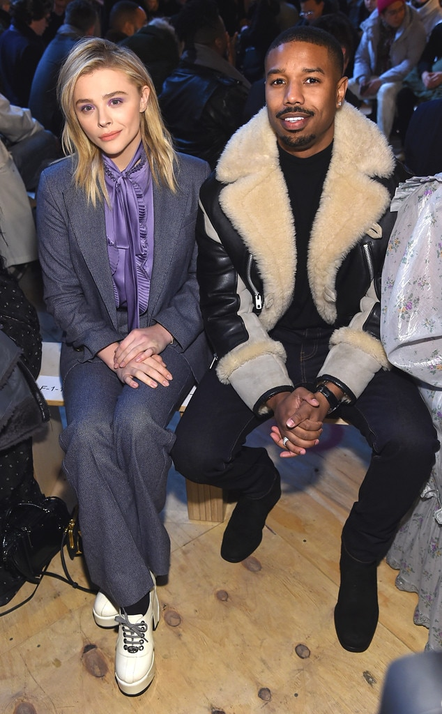 Chloe Grace Moretz & Michael B. Jordan -  Fashion fans! The actors are spotted sitting front row at the Coach 1941 runway show during New York Fashion Week.