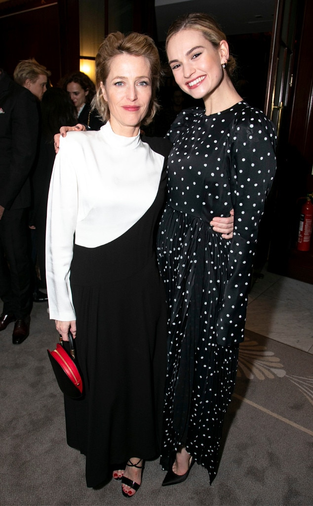 Gillian Anderson & Lily James -  Leading ladies!