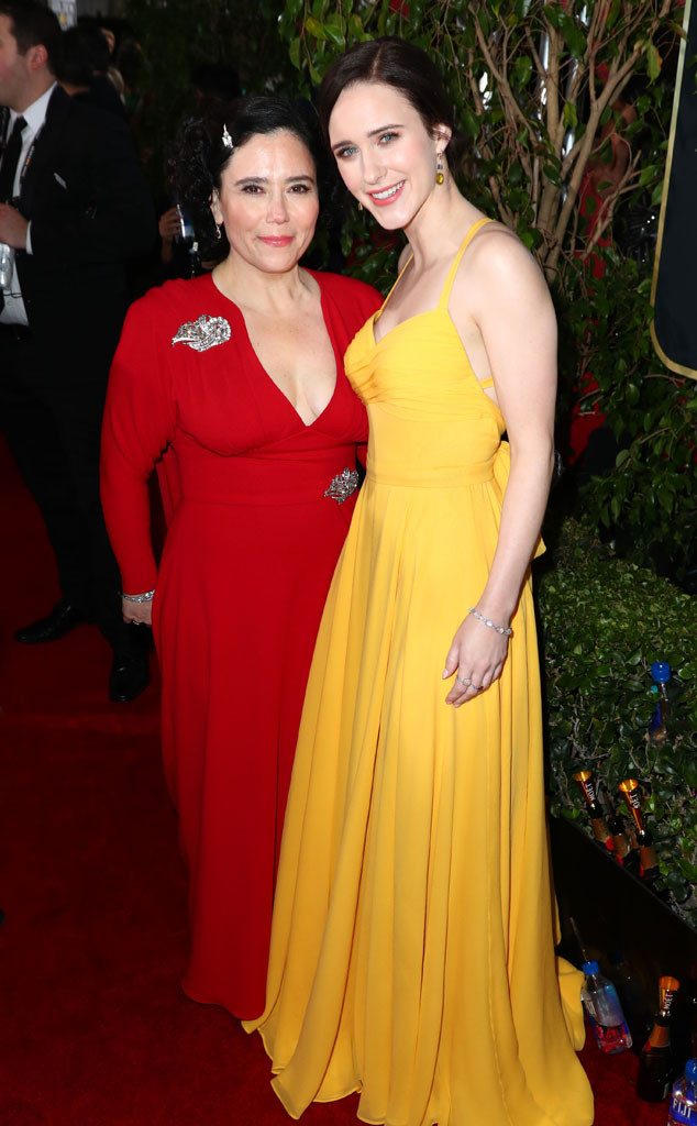 Alex Borstein, Rachel Brosnahan, 2019 Golden Globe Awards