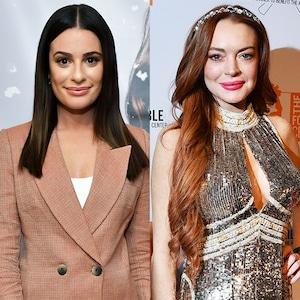 Lea Michele, Lindsay Lohan