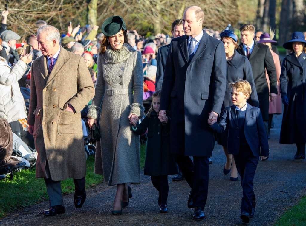 Prince Charles, Princess Charlotte, Kate Middleton, Prince William, Prince George, Christmas 2019