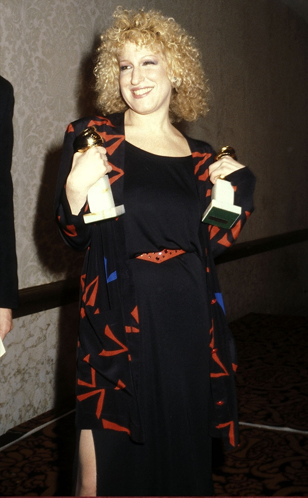 Bette Midler, Golden Globe looks