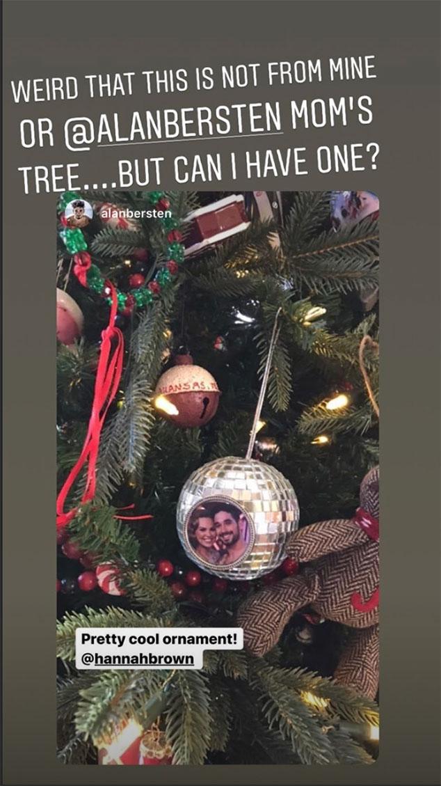 Hannah Brown, Alan Bersten, Christmas Tree