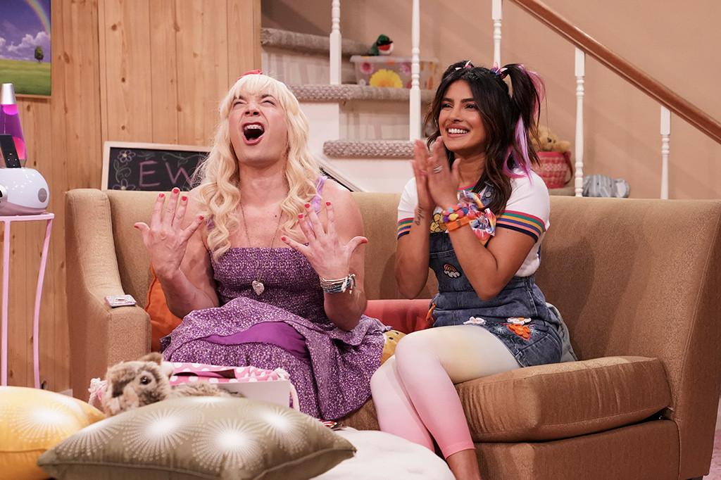 "Priyanka Chopra Fangirls Over Nick Jonas in Hilarious ""Ew"" Skit With Jimmy Fallon"
