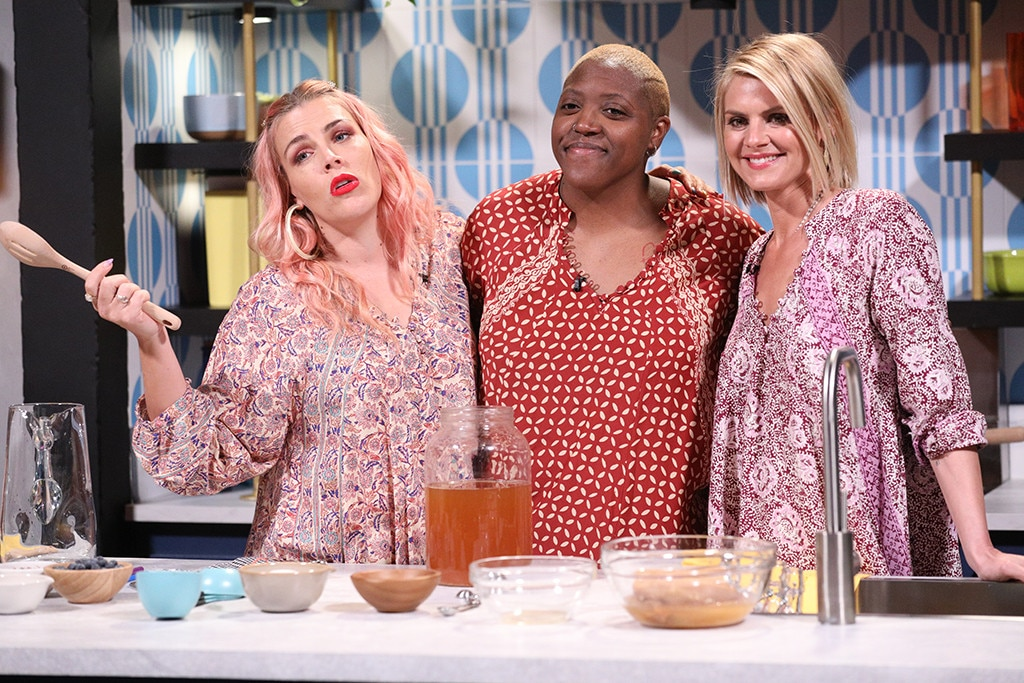 Eliza Coupe -  The  Future Man  actress  tries her hand at making kombucha  with Busy and Shantira.