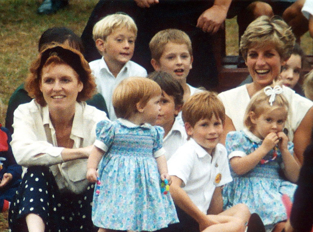 Princess Diana, Sarah Ferguson, Prince Harry, Princess Eugenie, Princess Beatrice