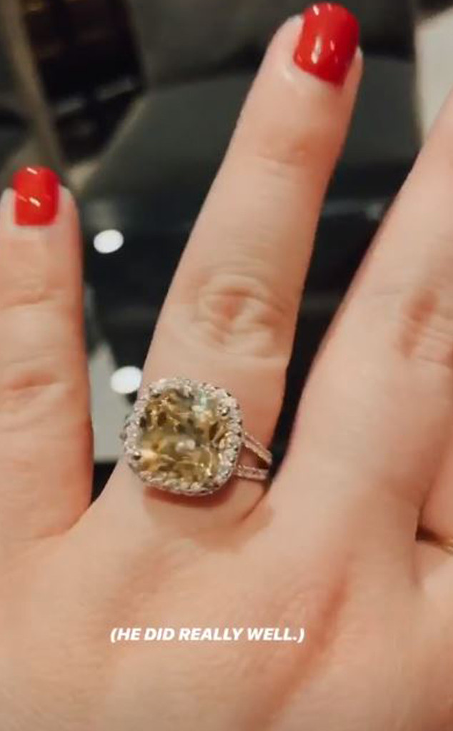Whitney Thore, Engagement Ring 2019