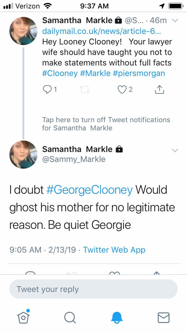 Samantha Markle, Twitter