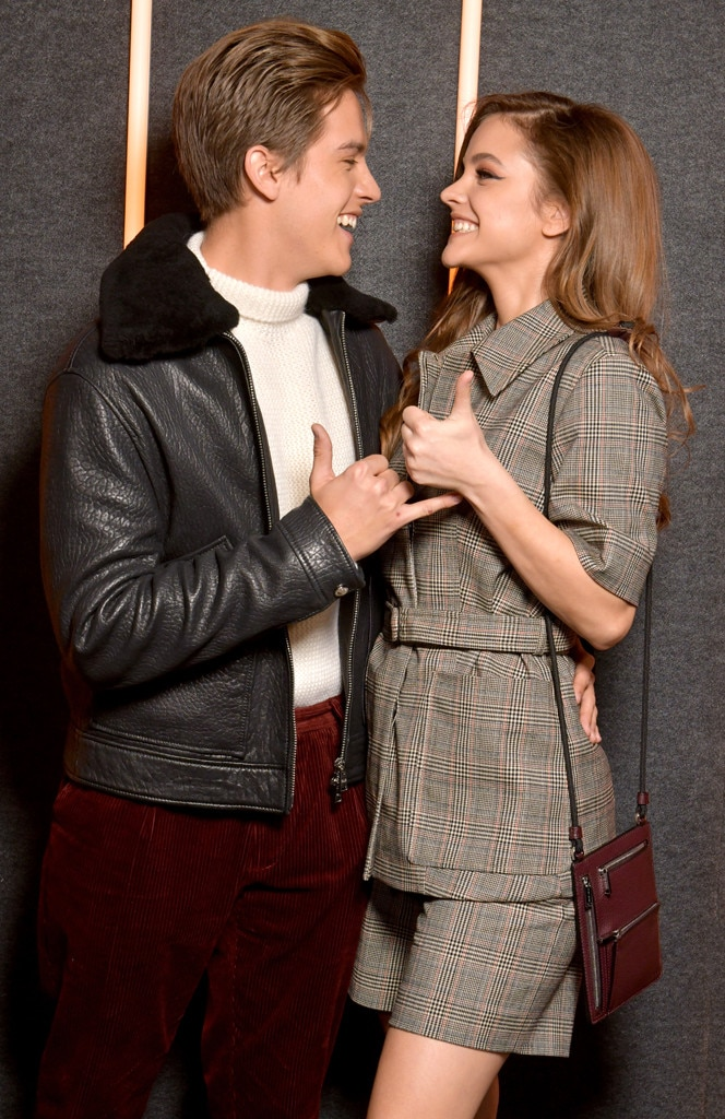 Dylan Sprouse & Barbara Palvin -  How romantic! The adorable coupleonly have eyes for each other at the BOSS show during New York Fashion Week.