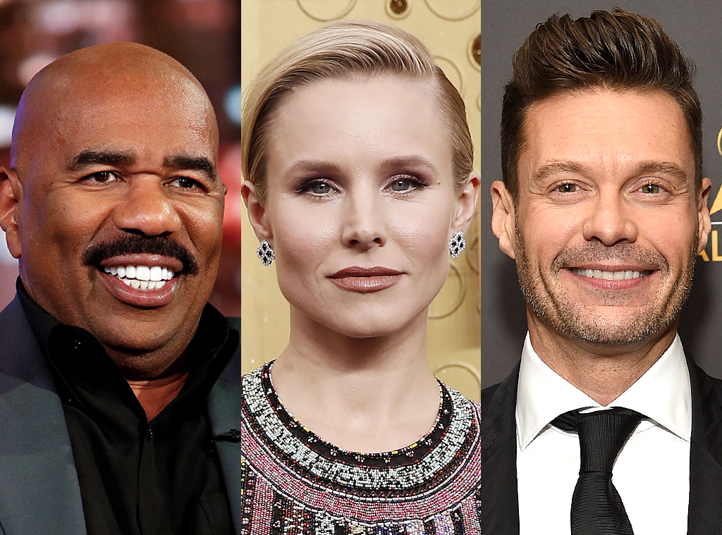 New Year's Eve specials, Ryan Seacrest, Steve Harvey, Kristen Bell